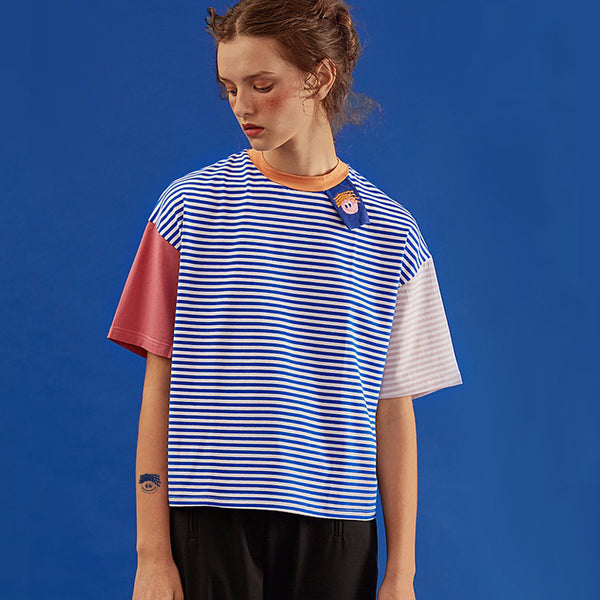 Patchwork Striped Colorful T-Shirt