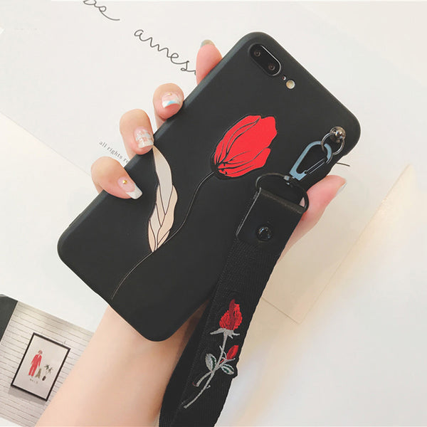 Golden Leaf Rose Case