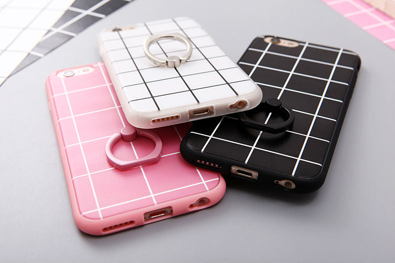 Soft Grid Case + Free Ring Holder