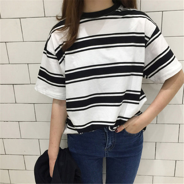 Striped Tee (Black/Red)