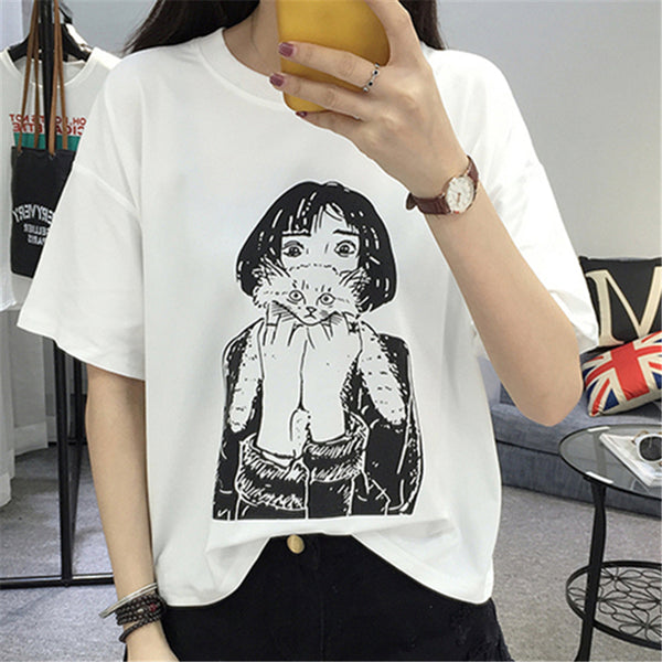 Girl Cat T-Shirt