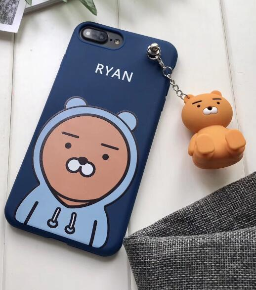 Kakao Friends 3D Ryan Case With Charm