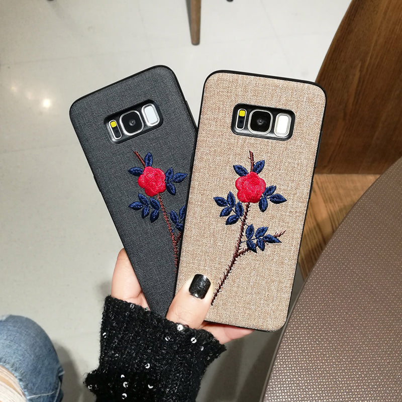 Rose Embroidery Case (Samsung)