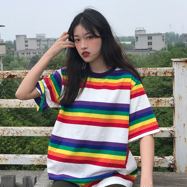 Rainbow Striped T-Shirt