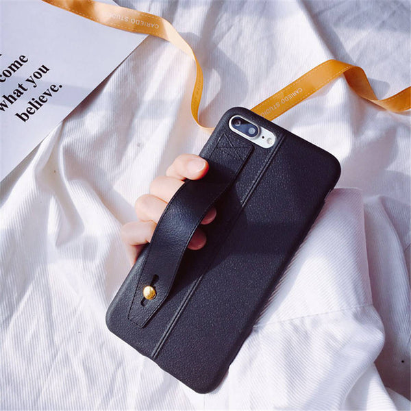 Faux Leather Strap Case