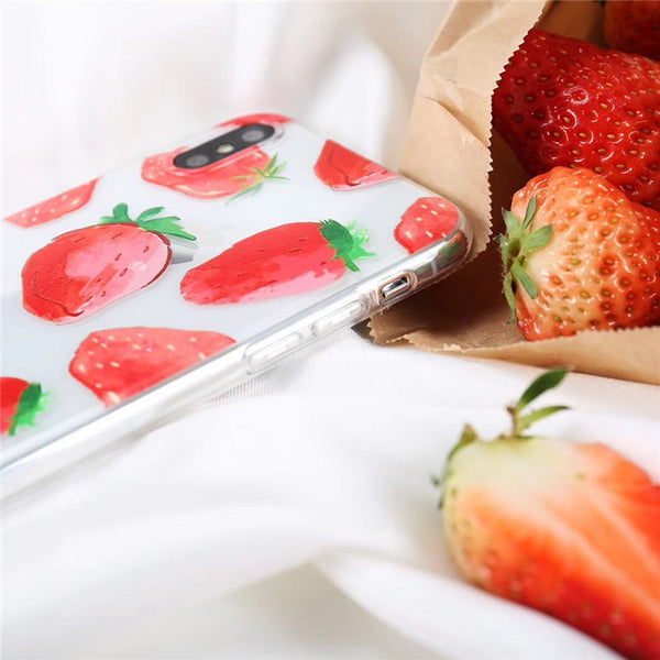 Transparent Strawberry Case