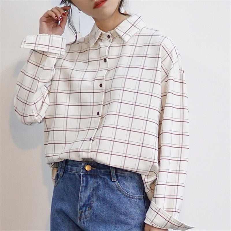 Simple Plaid Dress Shirt