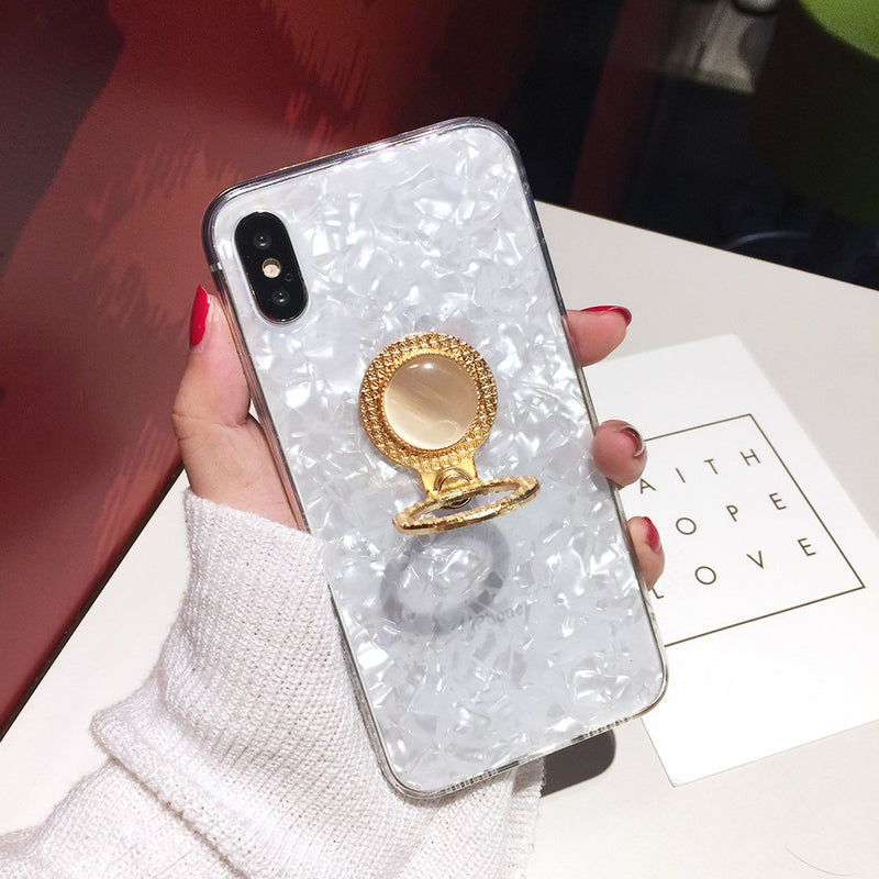 Translucent Crystal Case + Free Ring Holder