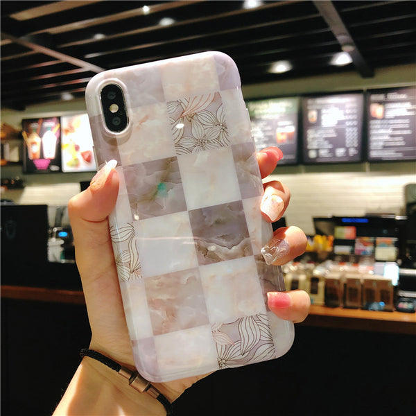 Checkerboard Marble Case