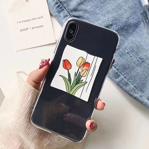 Cartoon Tulips Case