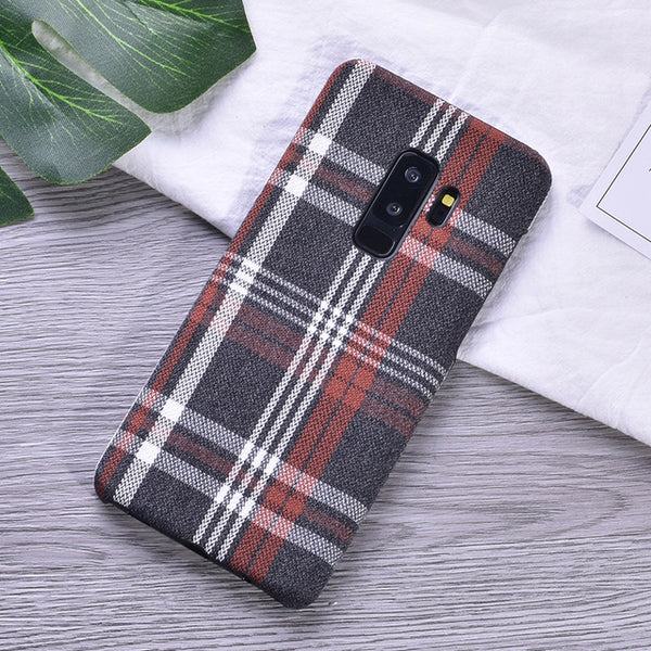 Plaid Pattern Case (Samsung)
