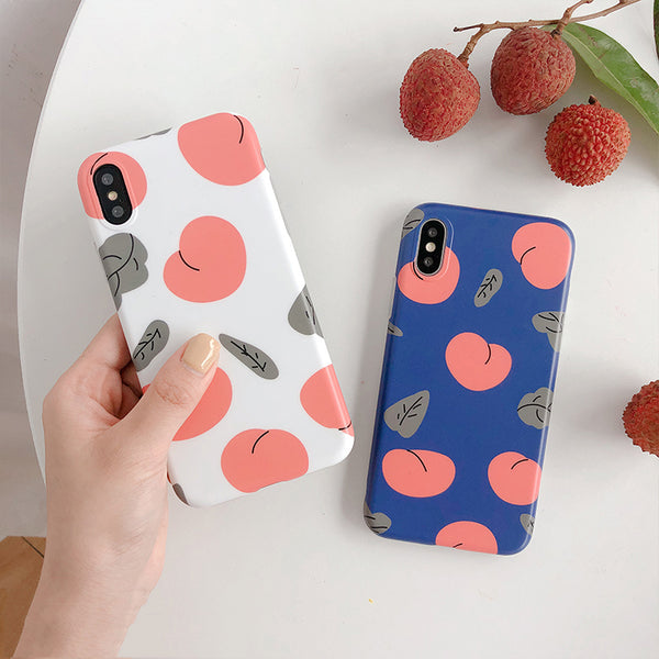 Simple Peaches and Leaves Case