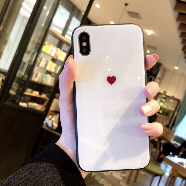 Bordered Glossy Heart Case