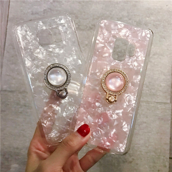 Translucent Crystal Case + Ring Holder (Samsung)
