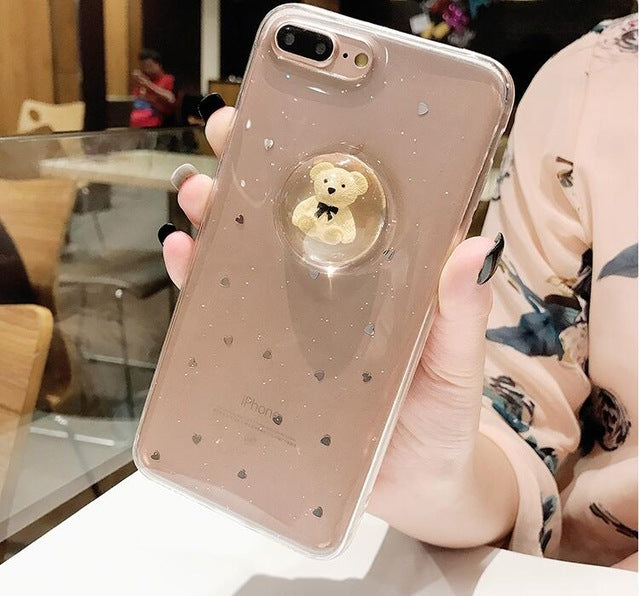3D Teddy Bear Capsule Case