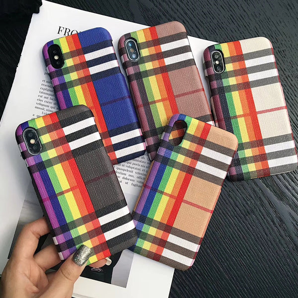 Rainbow Plaid Case