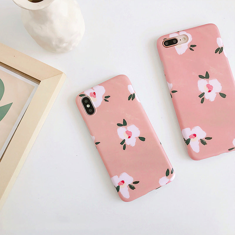 Paint Splotch Floral Case