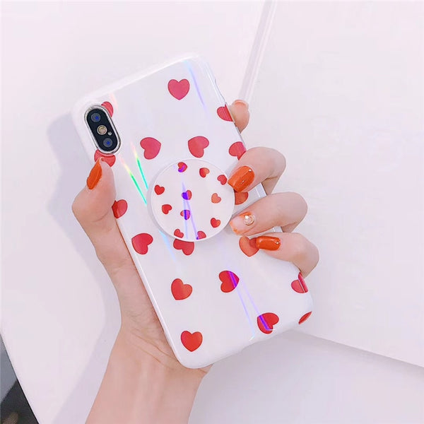 Laser Heart Case + Free Pop Holder