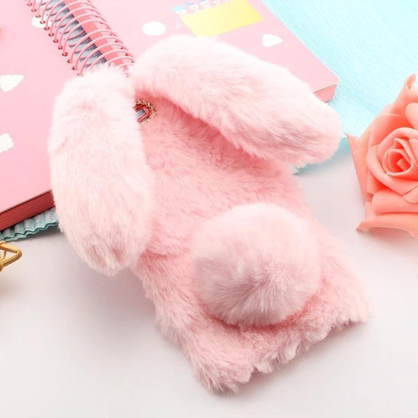 Fluffy Plush Bunny Case