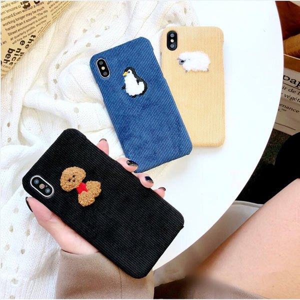 Fabric Embroidered Animal Case