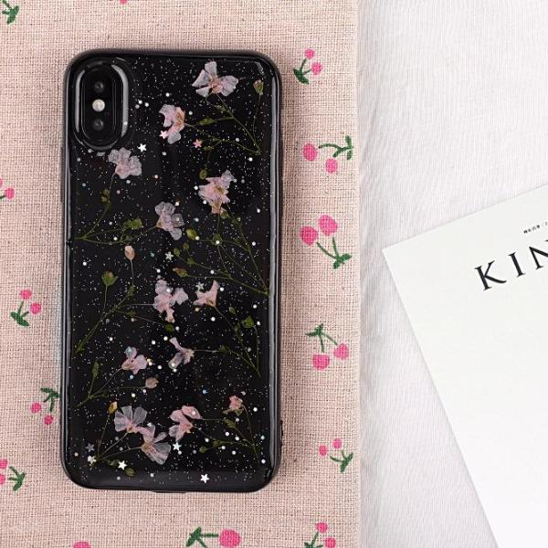 Black Dried Flower Case