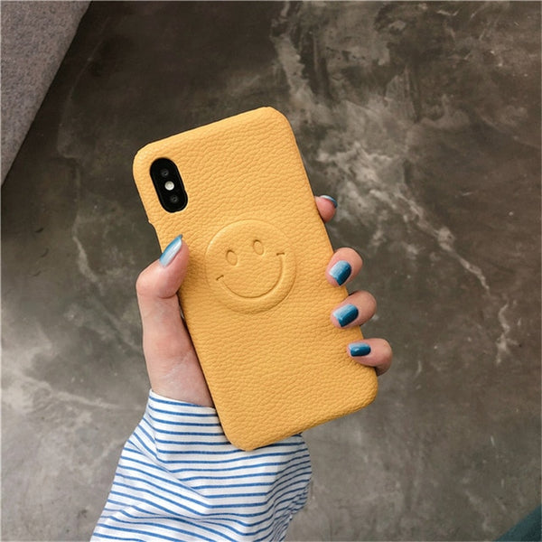 Faux Leather Smile Case