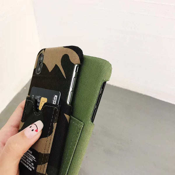 Green Camo Pocket Case
