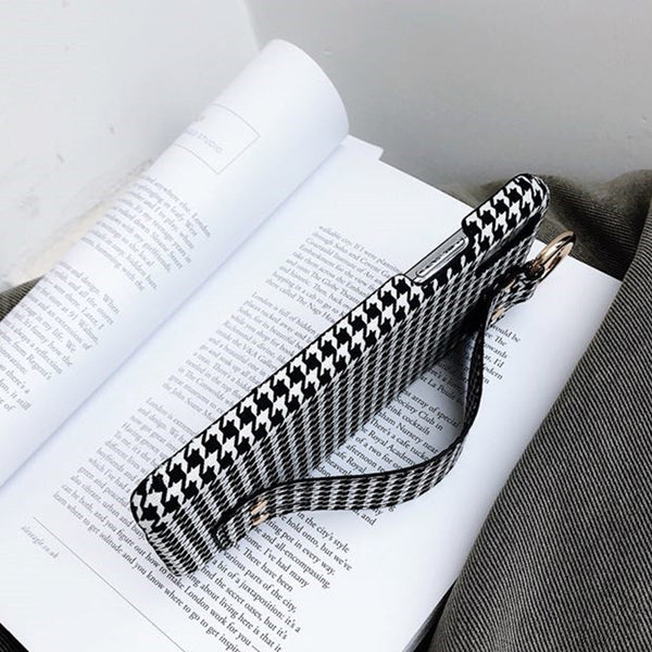 Houndstooth Grip Strap Case