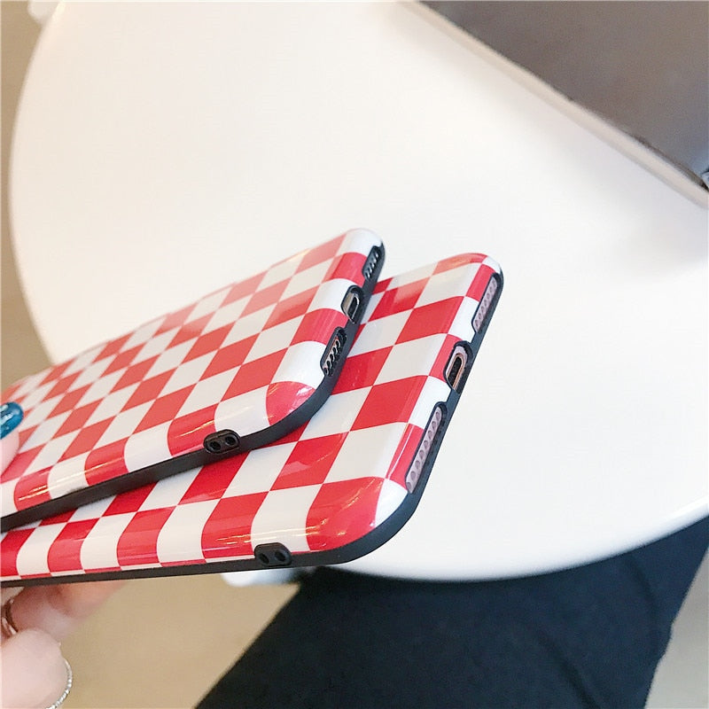 Red Checkered Case