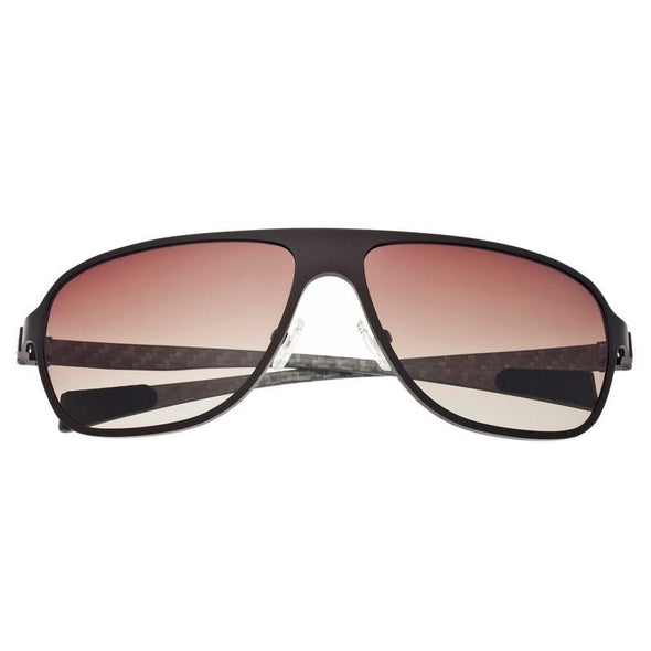 Breed Atmosphere Titanium and Carbon Fiber Polarized Sunglasses - Brown/Brown BSG004BN