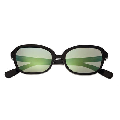 Bertha Harley Buffalo-Horn Polarized Sunglasses - Black/Green BRSBR004BG