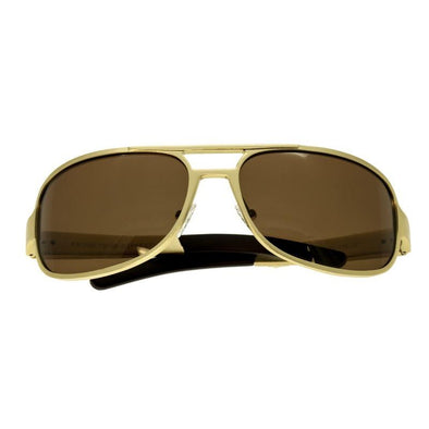 Breed Xander Aluminium Polarized Sunglasses - Gold/Brown BSG014GD