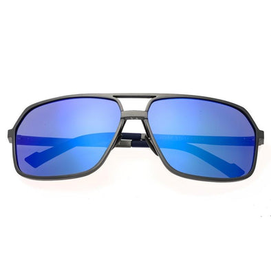Breed Fornax Aluminium Polarized Sunglasses - Gunmetal/Blue BSG023SR