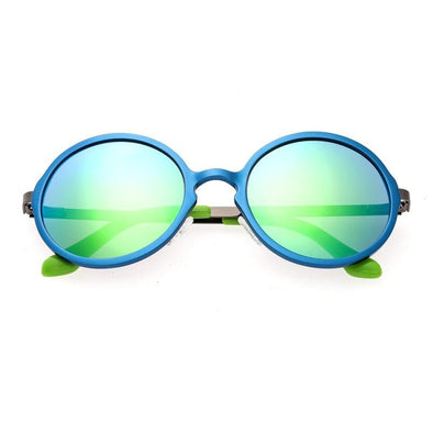 Breed Corvus Aluminium Polarized Sunglasses - Blue/Blue-Green BSG025BL