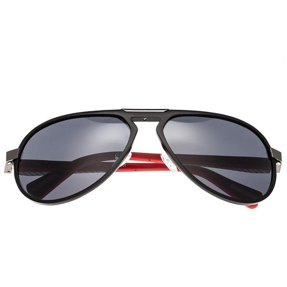 Breed Octans Titanium Polarized Sunglasses - Black/Black BSG028BK