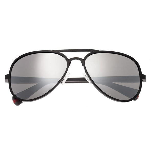 Breed Dorado Titanium Polarized Sunglasses - Black/Black BSG030BK