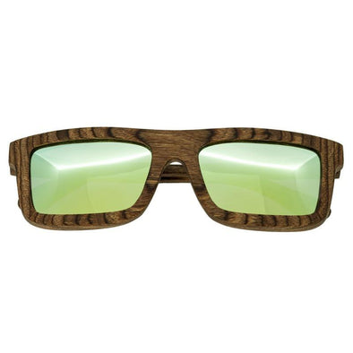 Spectrum Burrow Wood Polarized Sunglasses - Brown/Green SSGS118GY