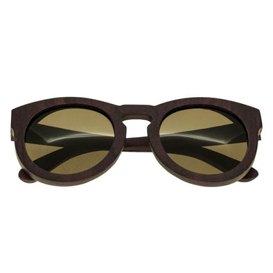 Spectrum Munro Wood Polarized Sunglasses - Purple/Brown SSGS126BR