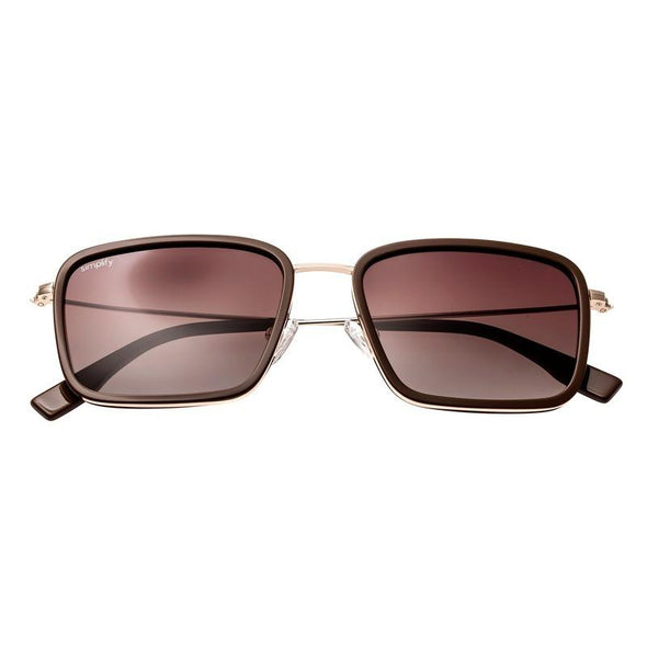 Simplify Parker Polarized Sunglasses - Dark Brown-Gold/Brown SSU103-TR