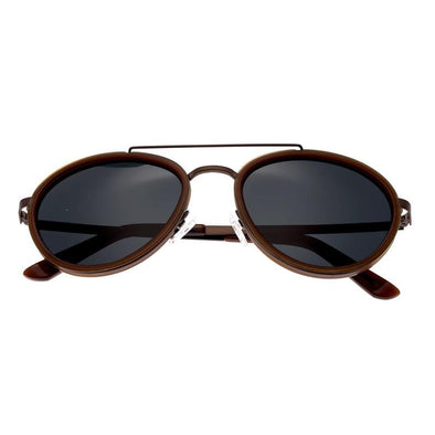 Breed Gemini Titanium Polarized Sunglasses - Brown/Black BSG038BN