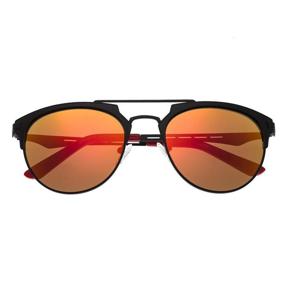 Breed Hercules Titanium Polarized Sunglasses - Black/Red-Yellow BSG039BK