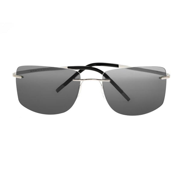 Breed Aero Polarized Sunglasses - Silver/Black BSG041SL