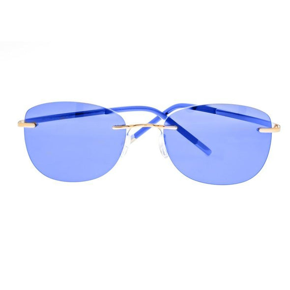 Breed Adhara Polarized Sunglasses - Gold/Blue BSG043GD