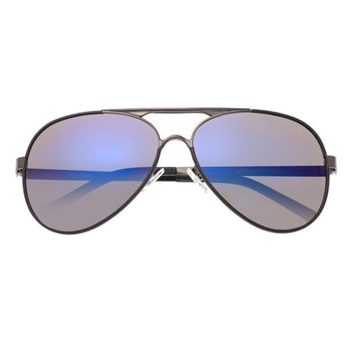 Breed Genesis Polarized Sunglasses - Gunmetal/Purple-Blue BSG046GM
