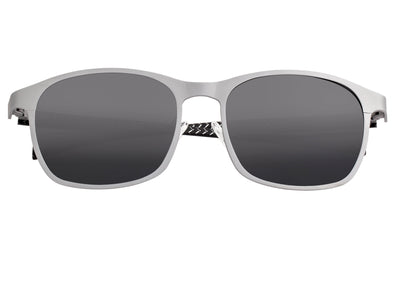 Breed Halley Titanium Polarized Sunglasses - Silver/Black BSG034SR
