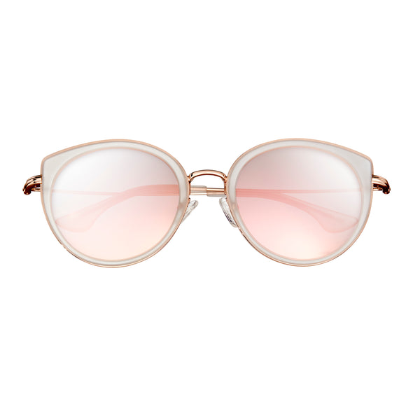 Bertha Reese Polarized Sunglasses - Clear/Rose Gold BRSBR044RG