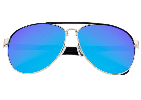 Sixty One Wreck Polarized Sunglasses - Silver/Blue SIXS107SL