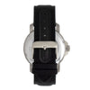 Reign Helios Automatic Leather-Band Watch w/Day/Date - Silver/Black REIRN5705