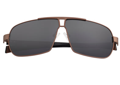 Breed Sagittarius Titanium Polarized Sunglasses - Brown/Black BSG032BN