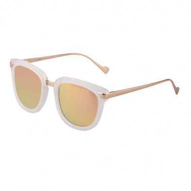 Bertha Jenna Polarized Sunglasses - Clear/Rose Gold BRSBR029CR